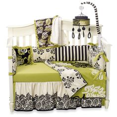 Love this modern look for a baby girls room!
