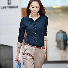 Navy Blue Dress Shirt Womens | Is Shirt