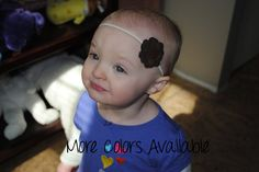 1 Faux Suede Brown/Tan/Chocolate Flowers Headband or Hair Clip CUSTOMIZABLE!