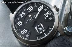 Montre de luxe originale - RESERVOIR Airfight Propeller - heure sautante et minute rétrograde