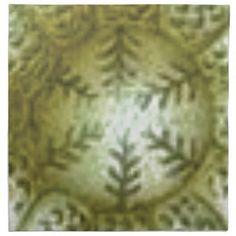 cream ball with ferns cloth napkin - white gifts elegant diy gift ideas