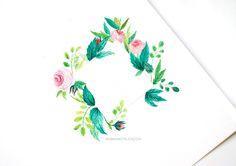 Botanical illustration logo tutorial - Inkstruck Studio