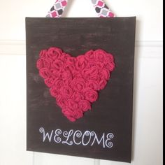 sign suggestins for valentines   Front door Valentine welcome sign   Craft Ideas