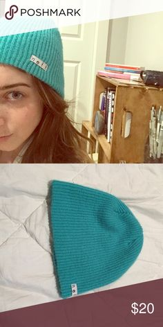 NEFF BEANIE - TEAL Barely worn! Very stretchy and comfortable to wear. Neff Accessories Hats