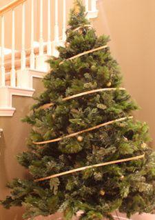 diy christmas tree ribbon garland christmaswalls co