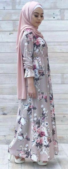 Niqab Fashion, Modest Fashion Hijab, Islamic Fashion, Muslim Fashion, Beautiful Hijab, Beautiful Outfits, Muslim Dress, Long Summer Dresses, Different Dresses