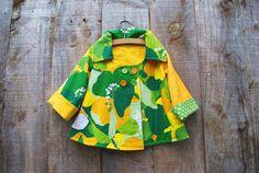 Girl's Swing Coat Jacket by oKIDDo (via Etsy).