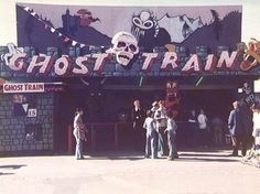 Ghost Train at Pleasureland Southport. Photo by John Burke. Halloween Circus, Fair Rides, Haunted Attractions, Happy Stories, Train Art, Real Ghosts, Horror House, Southport, Gorillaz