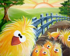 Adorable Chicken Print available on Etsy. Original canvas painting also available