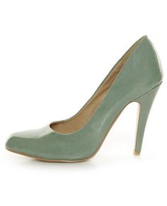 Mint Green Patent Pumps from Lulus.com There is just something so incredibly romantic about this color.