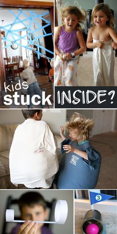 Brilliant ways to keep kids active - with stuck inside games