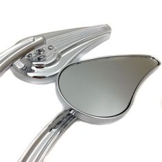 Harl Custom Vehicle Operations Dyna Low Rider CHROME Custom Tailfin Mirrors