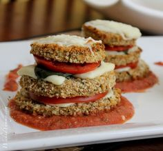 Wicked Yummy: Lightened Up Eggplant Tower
