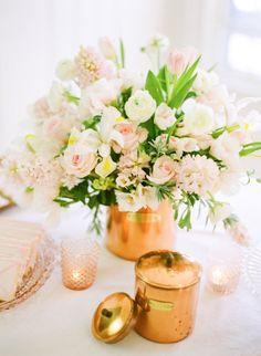 style me pretty - reception decor - table decor - centerpiece