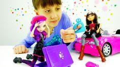 Видео про детские игрушки Монстер Хай: Кукла Евер Афтер Хай перепутала ч...