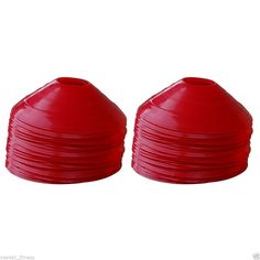 Set of 40 RED Agility Cones for Speed, Drill, Agility, Soccer, Workout Training