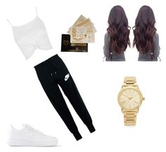 """""""casual day out"""" by baileyxx02 ❤ liked on Polyvore featuring NIKE, Topshop and Michael Kors"""