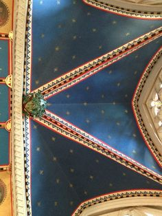 My miniature chapel ceiling is made of coloured card with stars drawn on with a gold pen