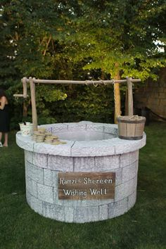 Wishing Well - perfect for our enchanted forest theme :)