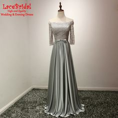 Find More Evening Dresses Information about Wholesale Elegant Gray A Line Lace Evening Dresses 2016 with 3/4 Sleeves Formal Women Long Party Prom Gowns robe de soiree TE196,High Quality evening dress 2016,China lace evening dresses Suppliers, Cheap robe de soiree from do dower LaceBridal Store on Aliexpress.com