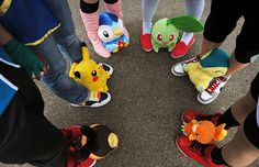 Awesome Pokemon Plushies with Cosplay. can we do this one day next year/this year. just show up to school in a pokemon cosplay?