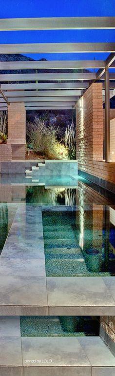 Modern pool ▇ #Home #Design #Decor http://irvinehomeblog.com/HomeDecor/ - Christina Khandan - Irvine, California ༺ ℭƘ ༻