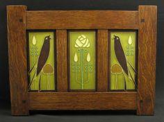 $269 . craftsman tile in oak frame.