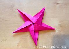 Der fertige Origami-Stern