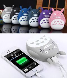 My Neighbor Totoro Portable Charger- so cute lol