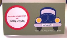 Führerschein, punch art Auto, Stampin'Up! Produkte