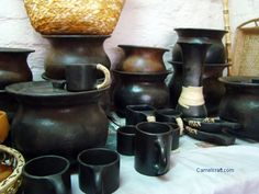 Pottery Manipur, India, this is black pottery traditional utility item used in tribal area Manipur, North Eastern state of India http://www.camelcraft.com/indian-handicrafts.html