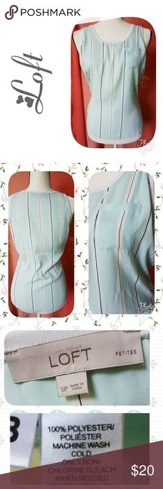 502290527de26 Loft Shirt Aqua loft shirt with white and grey vertical thin stripes which  make the figure