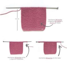 Knitted Baby Cardigan – PINK LADY – Crochet , Knitted Baby Cardigan – PINK LADY – Now we are going to join both pieces. If everything is correct, we must knit with Knitting. Baby Knitting Patterns, Baby Sweater Patterns, Baby Cardigan Knitting Pattern, Knitted Baby Cardigan, Knit Baby Sweaters, Knitted Booties, Baby Patterns, Pink Ladies, Baby Pullover Muster
