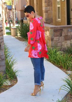 #DIY FLORAL TOP + PATTERN REVIEW V8977 #MimiGStyle