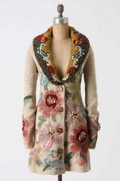 S NWT hand painted poppies sweater coat anthropologie sleeping on snow the best in Clothing, Shoes & Accessories, Women's Clothing, Sweaters Costume Russe, Bohemian Style, Boho Chic, Sweater Coats, Sweaters, Cardigans, Brown Sweater, Mode Mantel, Moda Boho