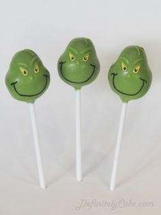 grinch cake pops - Rapunga Google                                                                                                                                                                                 More