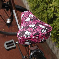 New Sanrio Hello Kitty Bicycle Saddle Cover Pink | eBay