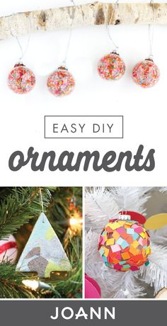 Whether you're just in a crafty mood this winter or are looking for fun and festive projects for you and your family, check out these Easy DIY Ornaments! With so many different tutorials to choose from with Jo-Ann, we can't wait to see how you choose to decorate your Christmas tree this year.
