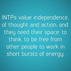 INTPs......My recharge time