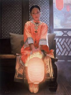 Pinzellada blava: Farolillos chinos en la pintura