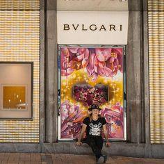 街頭藝術家 Ano 特別為 Bulgari 櫥窗噴上 Graffiti 創作打破創作界限#followyourheart #bulgarihk #graffitiart #visualmerchandising #harpersbazaarhk #bazaarhk #vc  via HARPER'S BAZAAR HONG KONG MAGAZINE OFFICIAL INSTAGRAM - Fashion Campaigns  Haute Couture  Advertising  Editorial Photography  Magazine Cover Designs  Supermodels  Runway Models