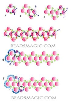 Free pattern for bracelet Dara | Beads Magic