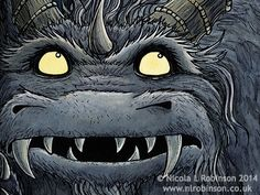 Nicola L Robinson MOnster Illustration Monster Face