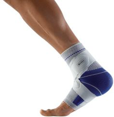 Bauerfeind MalleoTrain Right S Ankle Support (Titanium, 1) by Bauerfeind. $70.00. MalleoTrain S is an effective alternative to taping. It stabilizes the ankle and reduces strain to maximize performance during sports and everyday activities. The stretchy knit material is breathable and moisture-wicking, which provides effective compression and excellent wearing comfort. The figure-8 strap provides ankle stabilization at the supination & pronation level, during rotation, ...