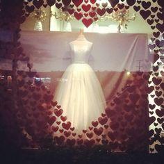 Happy Valentines Day Window Display. At Emas Bridal Shop in Salinas Ca