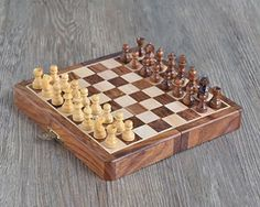 Wooden Rosewood Chess Set Travel Chess Board Game with Storage for Family and Kids 7 >>> Details can be found by clicking on the image.