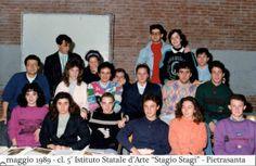 """Cl. 5°, a.s. 1988/89. Istituto Statale d'Arte """"Stagio Stagi"""" Pietrasanta."""