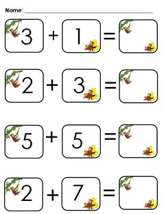 I really love teaching addition because it's easy to differentiate so you reach all learners. I love that once my quick learners catch on,. Math Classroom, Kindergarten Math, Classroom Themes, Kindergarten Addition, Math Addition Games, Teaching Addition, Addition Worksheets, Curious George Crafts, Smart Board Lessons