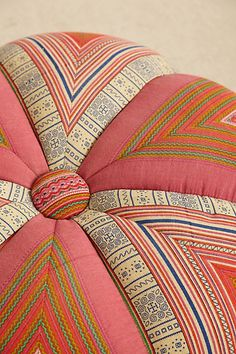 Handwoven Sawan Pouf - anthropologie.com