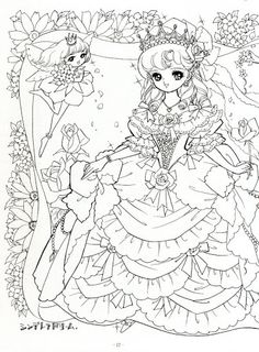 Japanese Shoujo Coloring Book 1 - Mama Mia - Picasa Web Albums Manga Coloring Book, Bible Coloring Pages, Cute Coloring Pages, Printable Adult Coloring Pages, Coloring Pages For Girls, Colouring Pics, Doodle Coloring, Coloring Books, Zentangle